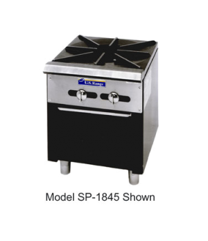 Regal Series Stock Pot Range, (1 burner, manual controls, standing pilot, one-pi