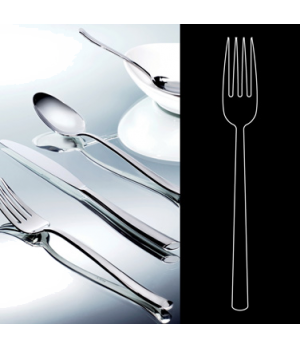 "Serving Fork, 9-1/4"", stainless steel, La Tavola, Yuki (USA stock item) (minimum"