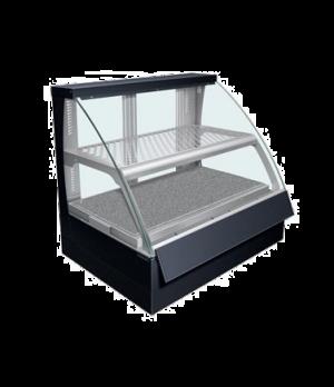 Flav-R-Savor® Heated Display Case, Curved Glass, countertop design, (2) pan doub