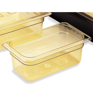 "H-Pan™, 1/4 size, 2-1/2"" deep, hi-temp plastic, polysulfone, non-stick surface,"