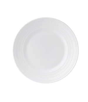 Intaglio Salad Plate, dishwasher safe, bone china, white
