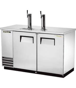Draft Beer Cooler, (2) keg capacity, stainless steel counter top, stainless stee