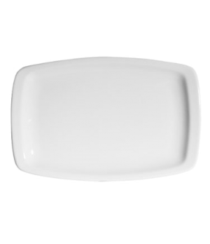"Platter, 13-3/4"" (35 cm), rectangular, narrow rim, rolled edge, scratch resistan"
