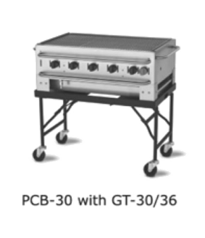 "Stacking Grill, portable, 36"", 5 burners, stainless steel construction, 79,500 B"