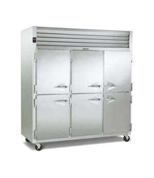 Dealer's Choice Storage Freezer, Reach-in, Three-Section, self-contained refrige