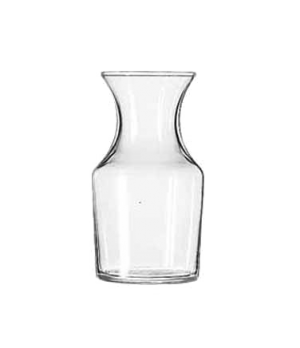 "Cocktail Decanter/Bud Vase, 8-1/2 oz., glass, (H 4-7/8""; T 2-1/4""; B 2-1/2""; D 2"