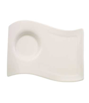 "Caffe Party Plate, 8-2/3"" x 6-3/4"", large, premium porcelain, New Wave Caffe"