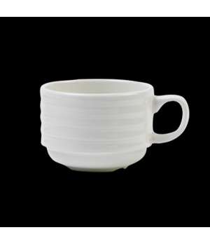 Cup, 7 oz., stackable, Performance, Arondo, white (minimum = case quantity)