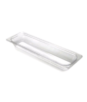 "Camwear® Food Pan, 1/2 size long, 4"" deep, polycarbonate, clear, NSF"