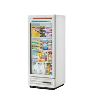 Refrigerated Merchandiser, one-section, (3) shelves, white exterior, trim, and i