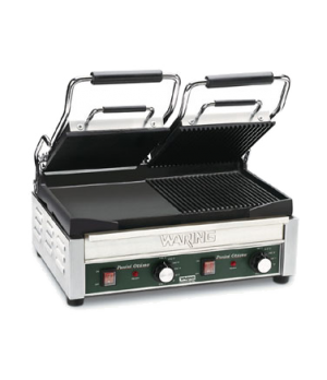 "Dual Surface Panini Grill, electric, double, 17"" x 9-1/4"" cooking surface, hinge"