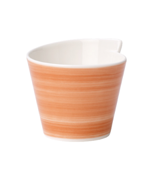 Bowl, 10-1/4 oz., free form, premium porcelain, Amarah Red Sun