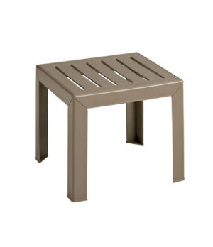 """Bahia Outdoor Low Table, 16"""" x 16"""", square, UV resistant resin, textured wood gr"""