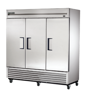 Freezer, Reach-in, -10° F, three-section, stainless steel doors, stainless steel