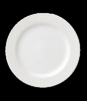 """Plate, 9-1/2"""" (24cm), flat, salamander/microwave/dishwasher safe, premium porcel"""