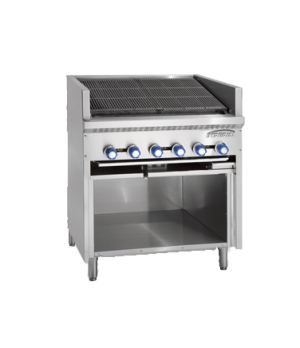 "Steakhouse Charbroiler, gas, floor model, 24"", (4) stainless steel burners, cast"