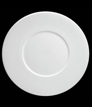 "Plate, 10-5/8"" dia. (5-3/4"" well), round, flat, wide rim, porcelain, Tria, Wish"