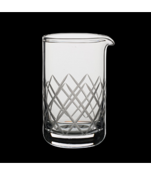 Mixing Beaker, 20-1/2 oz., diamond etching, hand-blown glass, Modern™ Mixologist