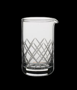 Mixing Beaker, 20-1/2 oz., diamond etching, hand-blown glass, Modern™ Mixologist
