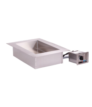 "Halo Heat® Hot Food Well Unit with large flange, Drop-In, Electric, (1) 12"" x 20"