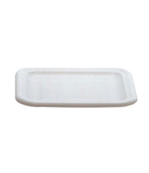 "Food Tote Box Lid, 15""L x 12-3/4""W, dishwasher safe, white, NSF"