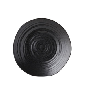 "Plate, 8.25"" diameter (21cm), round, embossed, vitrified ceramic, ebony, Tribeca"
