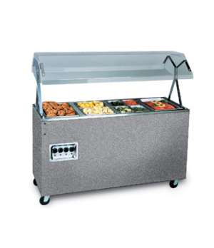 """Affordable Portable™ Hot Food Station, (4) well, 60""""W x 39-1/2""""D x 59""""H O.A., wi"""