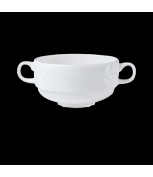 "Soup Cup, 10 oz., 5-3/4"" x 2-1/2"", stacking, handled, Distinction, Bianco, Bianc"