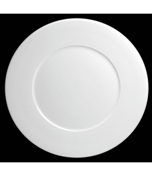"Plate, 12"" dia. (7-3/8"" well), round, flat, porcelain, Tria, Wish (minimum = cas"