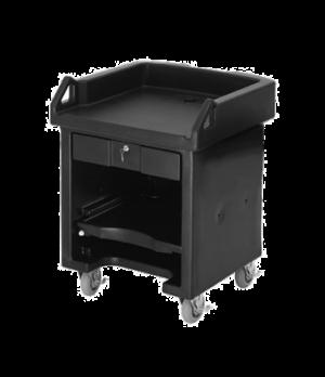 "Versa Cash Register Cart, 32""L x 32-1/4""W x 43""H, lockable center drawer, adjust"