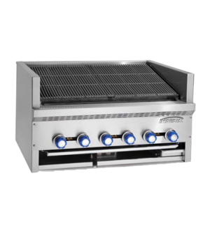 "Steakhouse Charbroiler, gas, countertop, 24"", (4) stainless steel burners, cast-"
