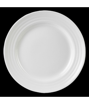 "Plate, round, 10-5/8"" dia., Performance, Arondo, white (minimum = case quantity)"
