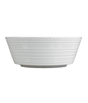 Intaglio Serving Bowl, medium, dishwasher safe, bone china, white