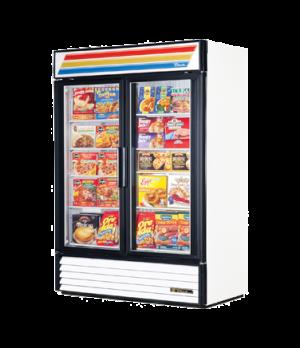 Freezer Merchandiser, two-section, -10° F, (8) shelves, laminated vinyl exterior
