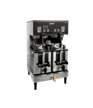 33500.0046 DUAL SH DBC® Coffee Brewer, low profile, holds (2) 1 gallon Soft Heat