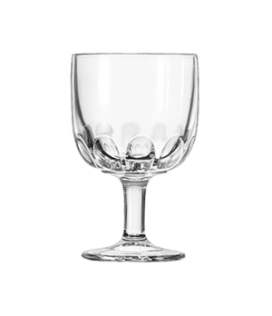 "Goblet Glass, 10 oz., HOFFMAN HOUSE, (H 6-1/8""; T 4""; B 3-1/4""; D 4"")"