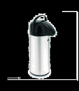 28696.0002 Airpot, 2.2 liter (74 oz.), push-button, glass insulation, chrome fin