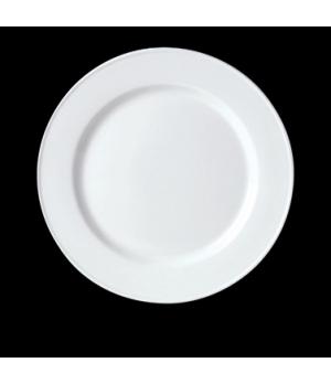"Slimline Plate, 10-5/8"" dia., round, wide rim, vitrified ceramic, Performance, S"