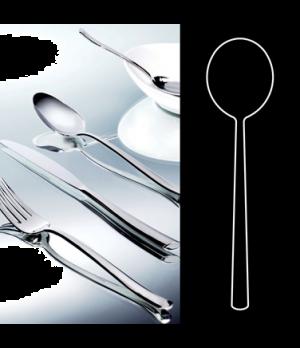 "Soup Spoon, 7"", round, stainless steel, La Tavola, Yuki (USA stock item) (minimu"