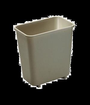 "Waste Basket, 8-1/8 qt., 9-7/8""W x 6-3/4""D x 10-1/4""H, vanity, soft, rolled rims"