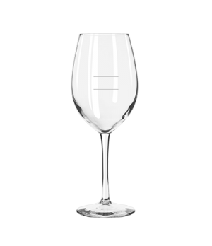 "Wine Glass, 17 oz. capacity, 9-1/4"" H, stem, with pour lines, Safedge® Rim & Foo"