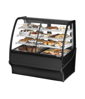 "Display Merchandiser, Dual Zone (Dry/Refrigerated), 48-1/4""L, curved glass front"