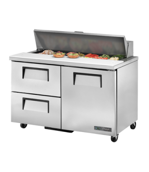 "Sandwich/Salad Unit, (12) 1/6 size (4""D) poly pans, stainless steel insulated co"