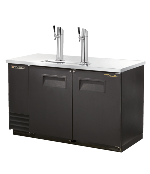 Draft Beer Cooler, (2) keg capacity, stainless steel counter top, black vinyl ex