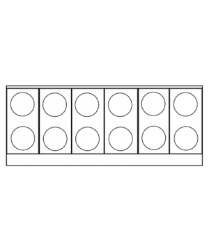 "Restaurant Range, electric, 72"", (12) round elements, (2) convection ovens, (3)"