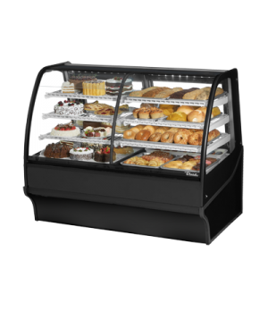 "Display Merchandiser, Dual Zone (Dry/Refrigerated), 59-1/4""L, curved glass front"