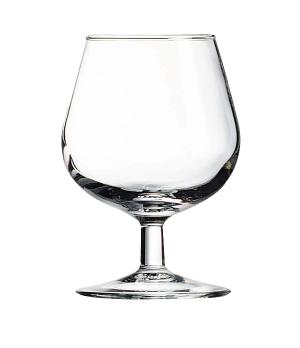 "Brandy Glass, 5 oz., glass, Arcoroc, Degustation, (H 3-3/4""; M 2-5/8"")"