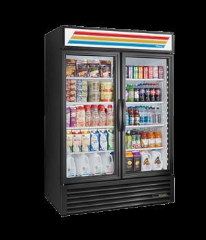 Refrigerated Merchandiser, two-section, True standard look version 01, (8) shelv
