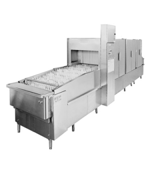Flight Type Continuous Racking Automatic Conveyor Dishwasher, 120 Gallons / Hour