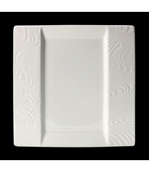 "Plate, 10"" x 10"", square, flat, rimmed, freezer/microwave/dishwasher safe, lifet"